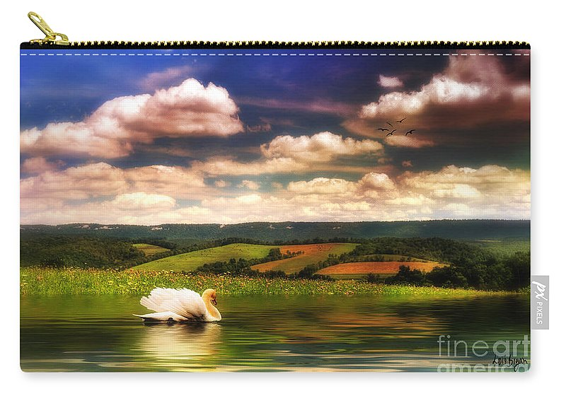 Nature Carry-all Pouch featuring the digital art In A Land Far Away by Lois Bryan
