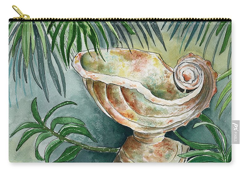 Still Life Carry-all Pouch featuring the painting In A Tropical Garden by Brenda Owen