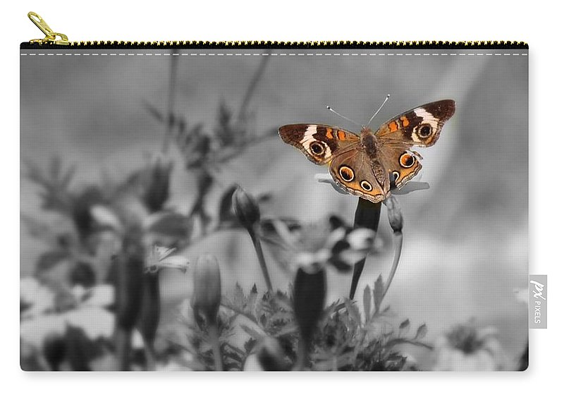 Butterfly Carry-all Pouch featuring the photograph In A World Of Darkness by Teresa Self