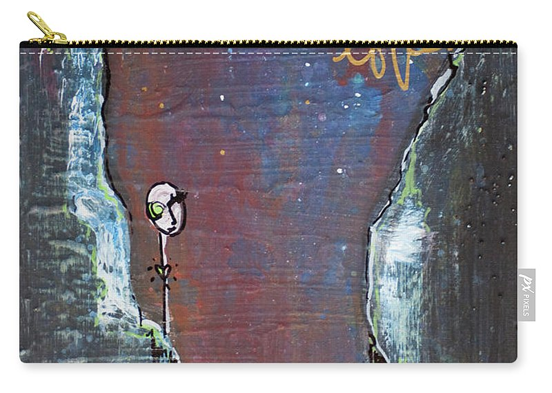 Cliffs Carry-all Pouch featuring the painting In All My Tiny Little Stars by Laurie Maves ART
