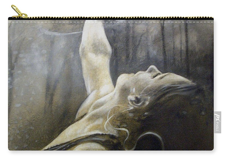Spitfire Carry-all Pouch featuring the painting In Awe by Riek Jonker