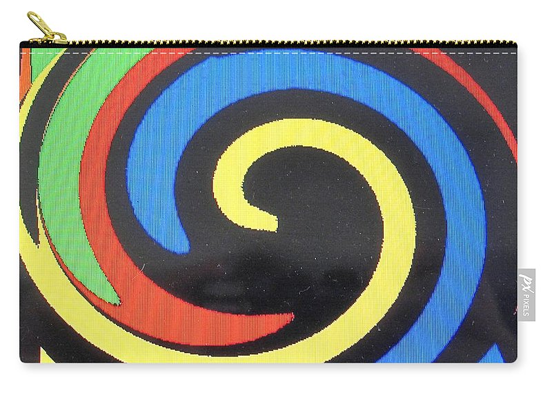 Red Carry-all Pouch featuring the digital art In Balance by Ian MacDonald