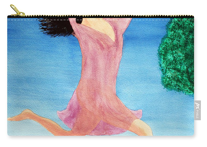 Adult Carry-all Pouch featuring the painting In Between Heaven And Earth by Lee Serenethos