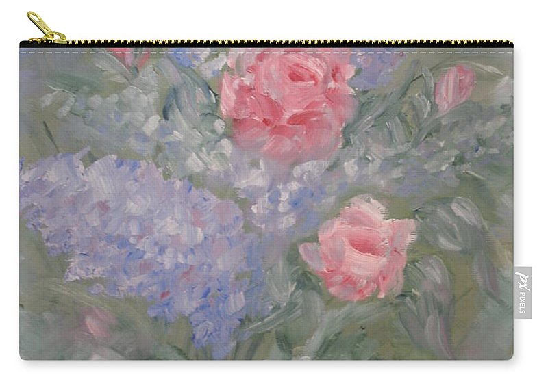 Flowers Carry-all Pouch featuring the painting In Bloom by Carrie Mayotte