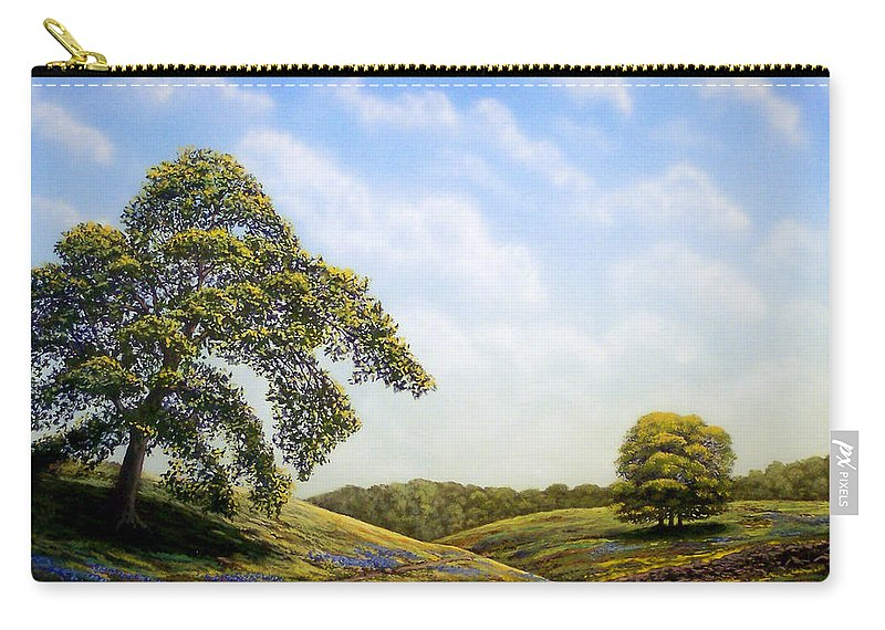 Landscape Carry-all Pouch featuring the painting In Bloom by Frank Wilson