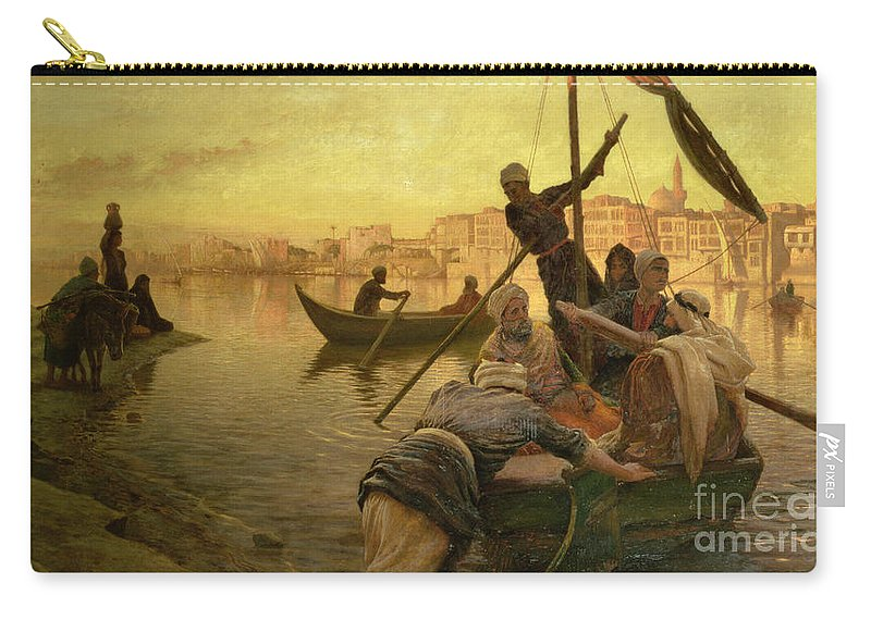 Cairo Carry-all Pouch featuring the painting In Cairo by Joseph Farquharson