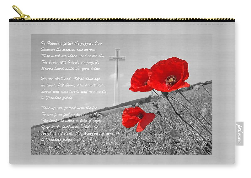 Poppy Carry-all Pouch featuring the photograph In Flanders Fields by Gill Billington