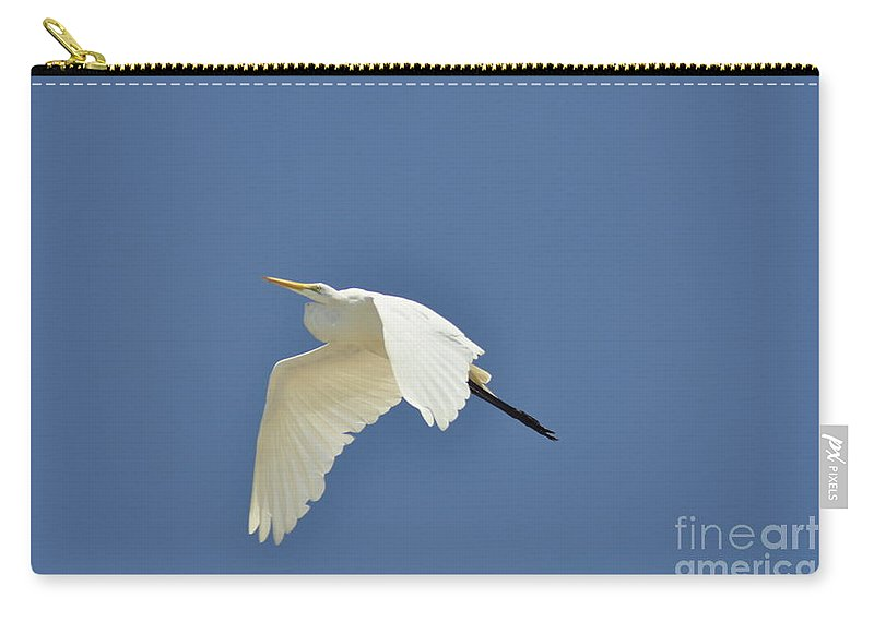 Clay Carry-all Pouch featuring the photograph In Flight by Clayton Bruster