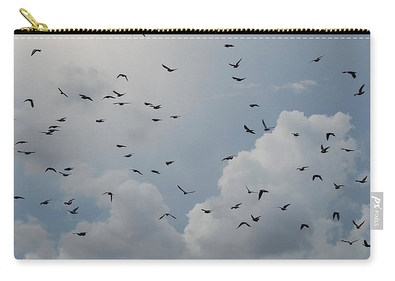 Birds Carry-all Pouch featuring the photograph In Flight by Rob Hans