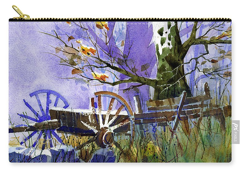 Antiques Carry-all Pouch featuring the painting In Harmony by Lee Klingenberg