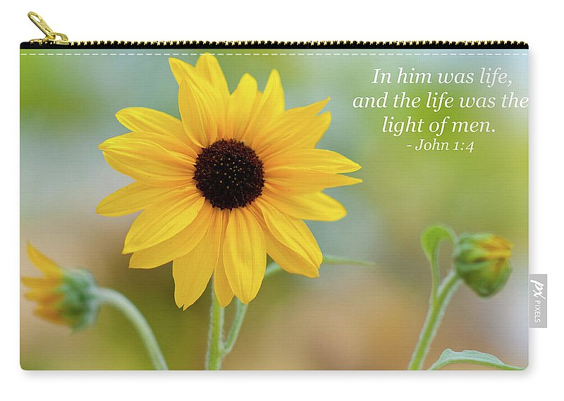 Landscape Carry-all Pouch featuring the photograph In Him Was Life by Kim Warden