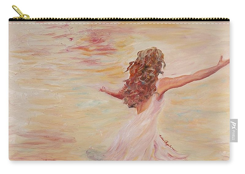 Dance Carry-all Pouch featuring the painting In Him We Live by Nadine Rippelmeyer
