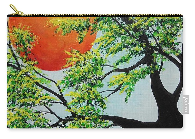 Harvest Moon Carry-all Pouch featuring the painting In His Time by Dan Whittemore