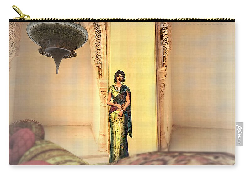 India Carry-all Pouch featuring the digital art In India 2 by Brainwave Pictures