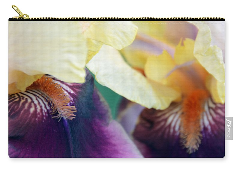 Iris Carry-all Pouch featuring the photograph In Love With Iris by Angelina Tamez