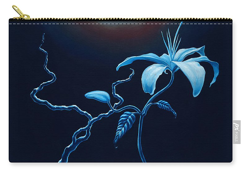 Lily Flower Carry-all Pouch featuring the painting In Memorial by Jennifer McDuffie