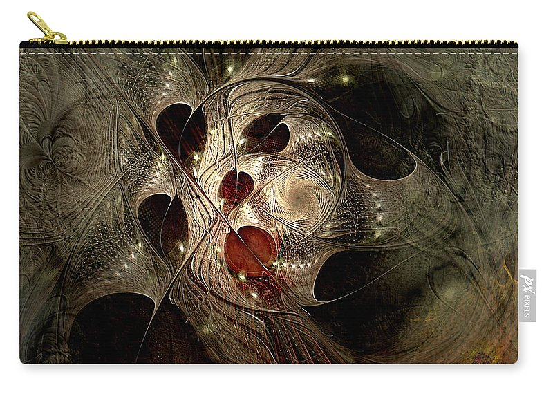 Abstract Carry-all Pouch featuring the digital art In Search Of The Lost Chord by Casey Kotas