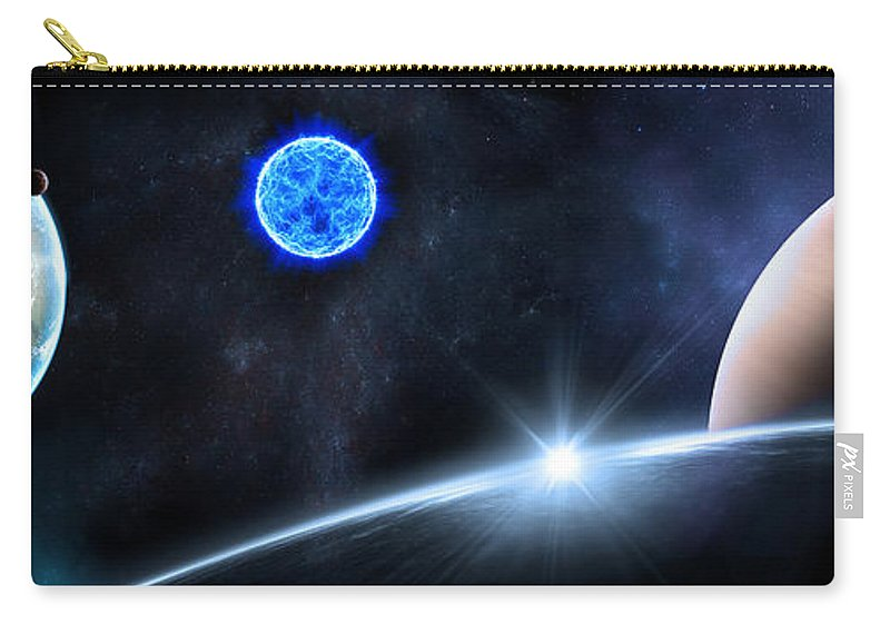 Abstract Carry-all Pouch featuring the digital art in Space by Svetlana Sewell