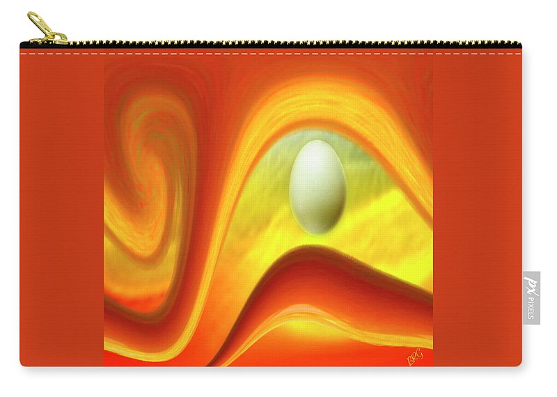 Surreal Carry-all Pouch featuring the digital art In The Beginning by Ben and Raisa Gertsberg
