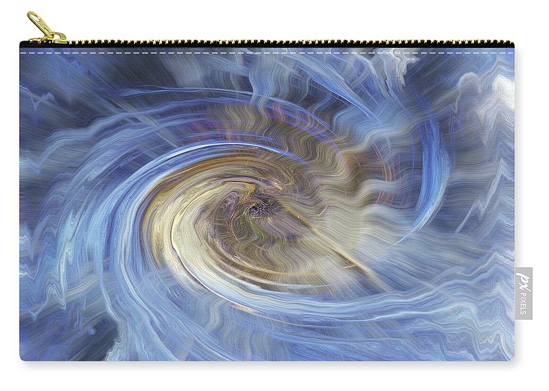 Shell Ice Carry-all Pouch featuring the digital art In The Beginning by Bill Morgenstern