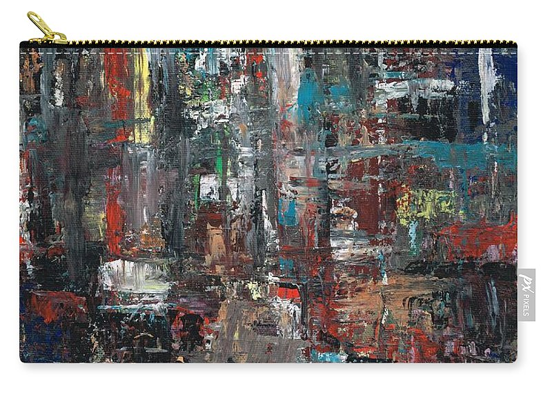 Cities Carry-all Pouch featuring the painting In The City by Frances Marino