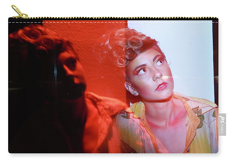 Indi Models Carry-all Pouch featuring the photograph In The Dark N In The Light by Bharathan Kangatheran