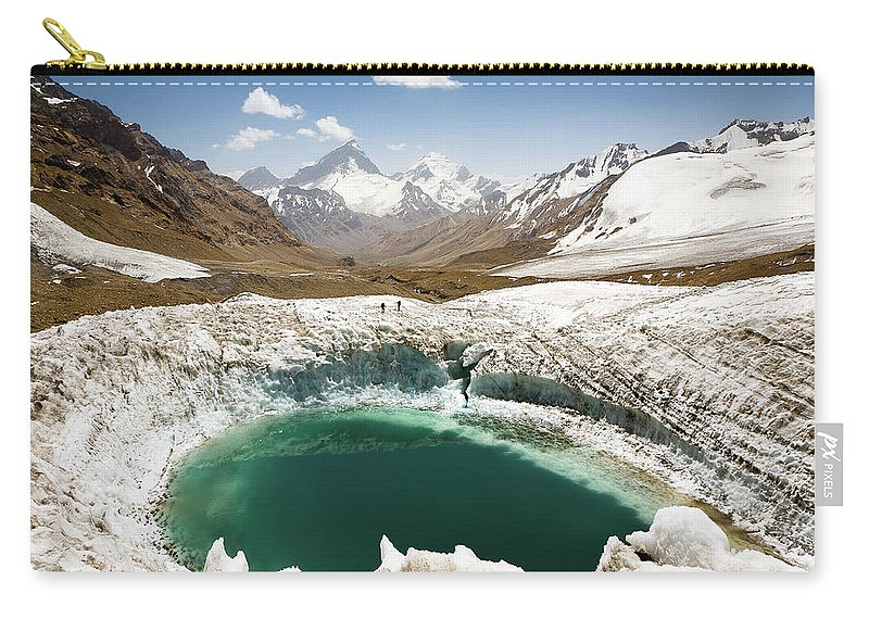 Art Carry-all Pouch featuring the photograph In The Depth Of Pamir by Konstantin Dikovsky