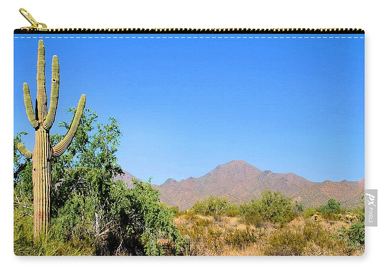 Cactus Carry-all Pouch featuring the photograph In The Desert by Kristin Elmquist