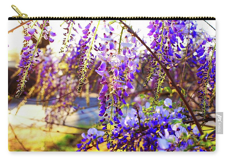 Flowers Carry-all Pouch featuring the photograph In The Evening by Toni Hopper