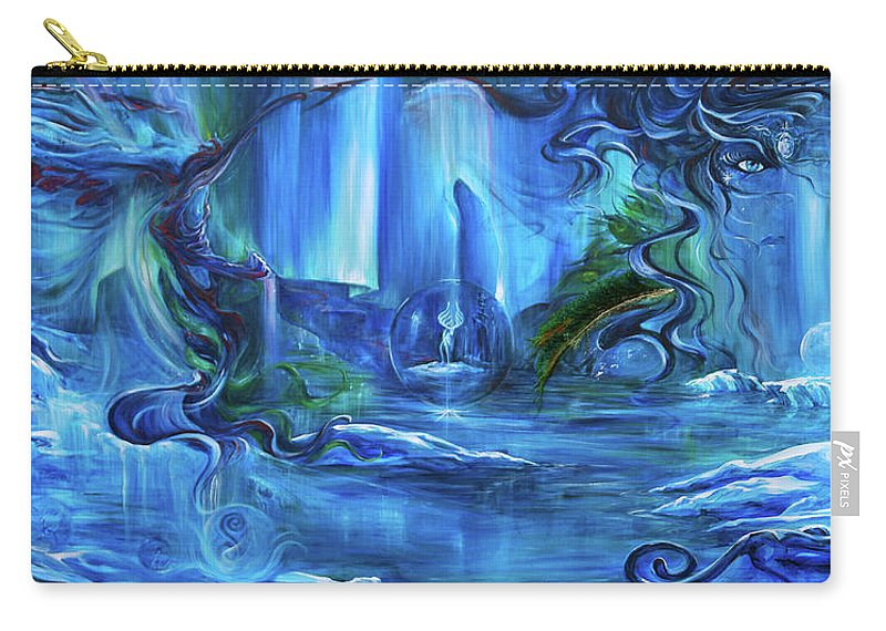 Ice Carry-all Pouch featuring the painting In The Eyes Of Aurora by Jennifer Christenson