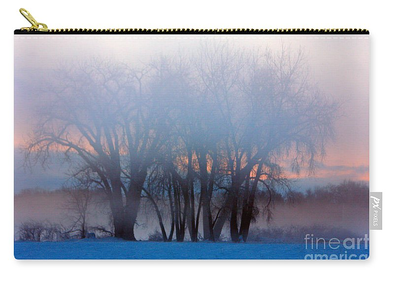 Fog Carry-all Pouch featuring the photograph In The Fog At Sunrise by James BO Insogna