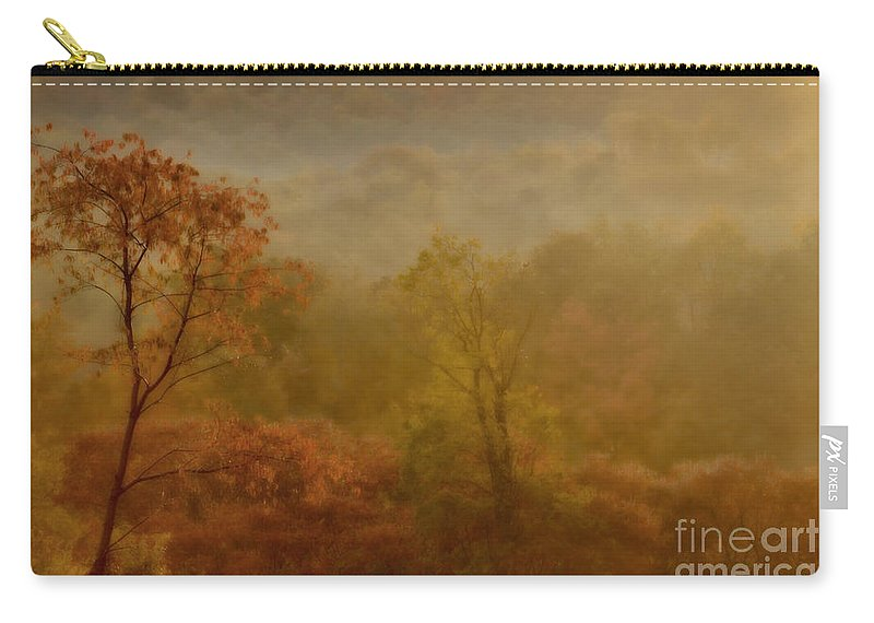 Fog Carry-all Pouch featuring the photograph In the fog by Gaby Swanson