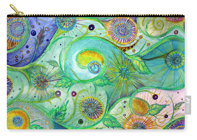 Landscape Carry-all Pouch featuring the drawing In The Garden by Amanda Kabat
