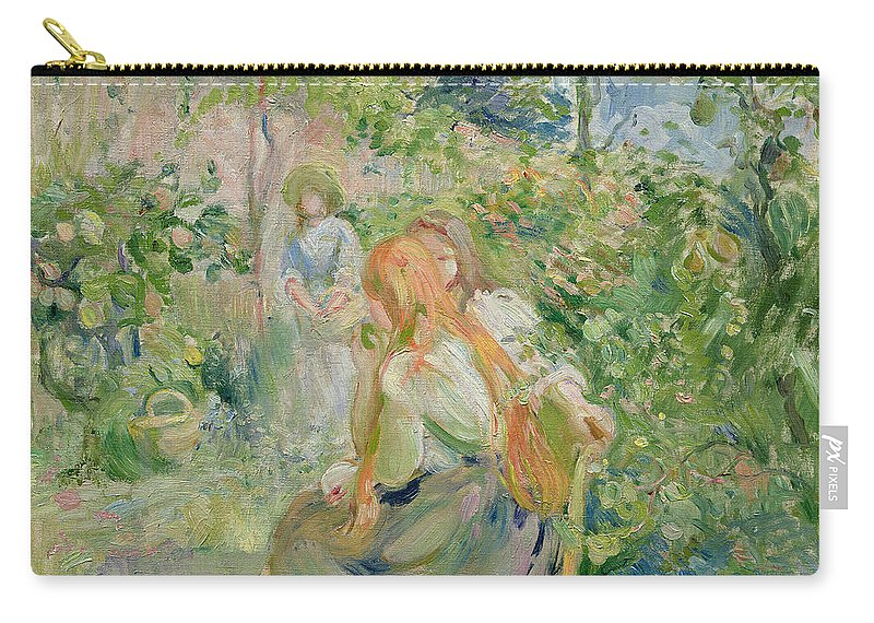 The Carry-all Pouch featuring the painting In The Garden At Roche Plate by Berthe Morisot