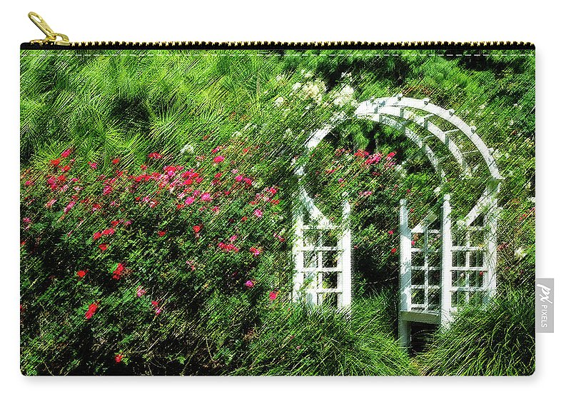 Rose Carry-all Pouch featuring the photograph In The Garden by Carolyn Marshall