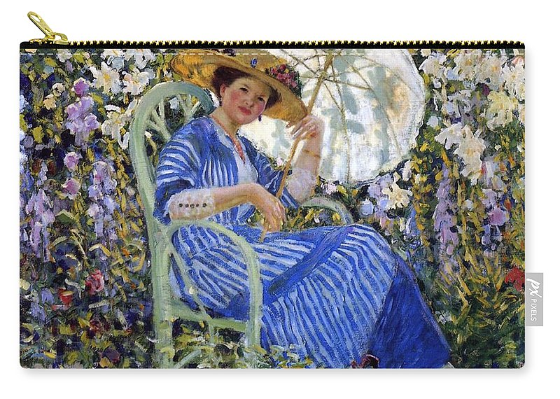 In The Garden Carry-all Pouch featuring the painting In The Garden by Frederick Carl Frieseke