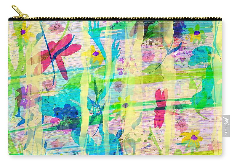 Abstract Carry-all Pouch featuring the digital art In the Garden by William Russell Nowicki