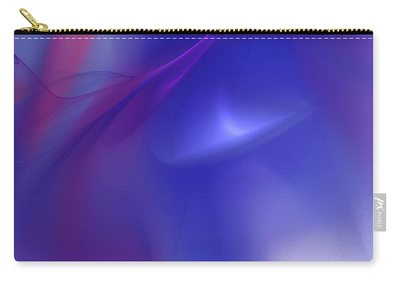 Fine Art Carry-all Pouch featuring the digital art In The Inter-dimensional Void by David Lane