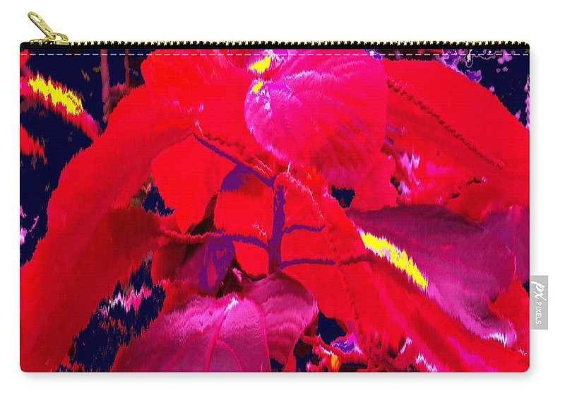 Abstract Carry-all Pouch featuring the photograph In The Jungle by Ian MacDonald