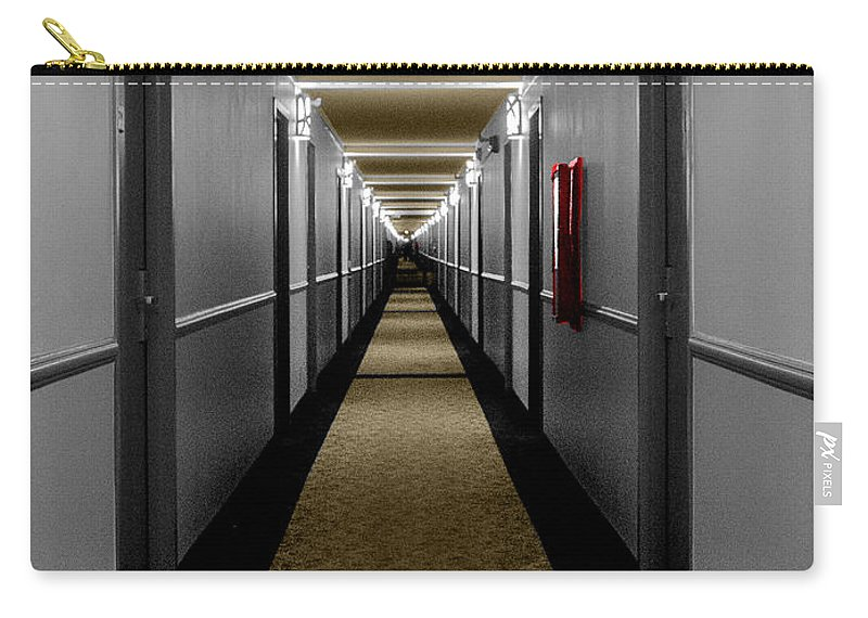 Hotel Carry-all Pouch featuring the photograph In The Long Hall by Leon deVose
