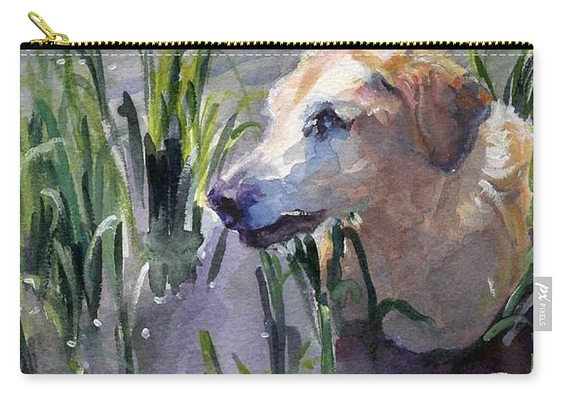 Marshland Carry-all Pouch featuring the painting In The Marsh by Sheila Wedegis