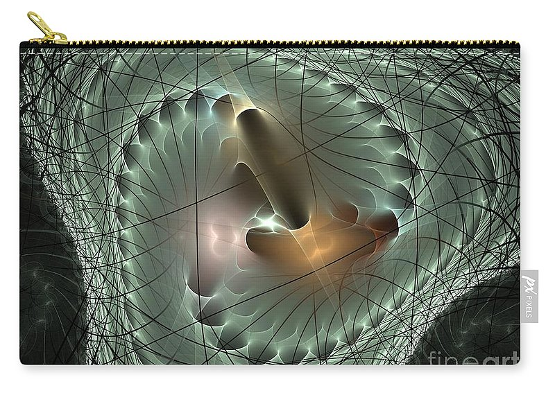 Apophysis Carry-all Pouch featuring the digital art In The Mesh by Deborah Benoit