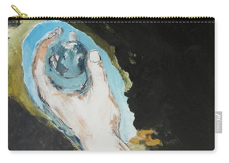 Hand Carry-all Pouch featuring the painting In The Palm Of My Hand by Craig Newland