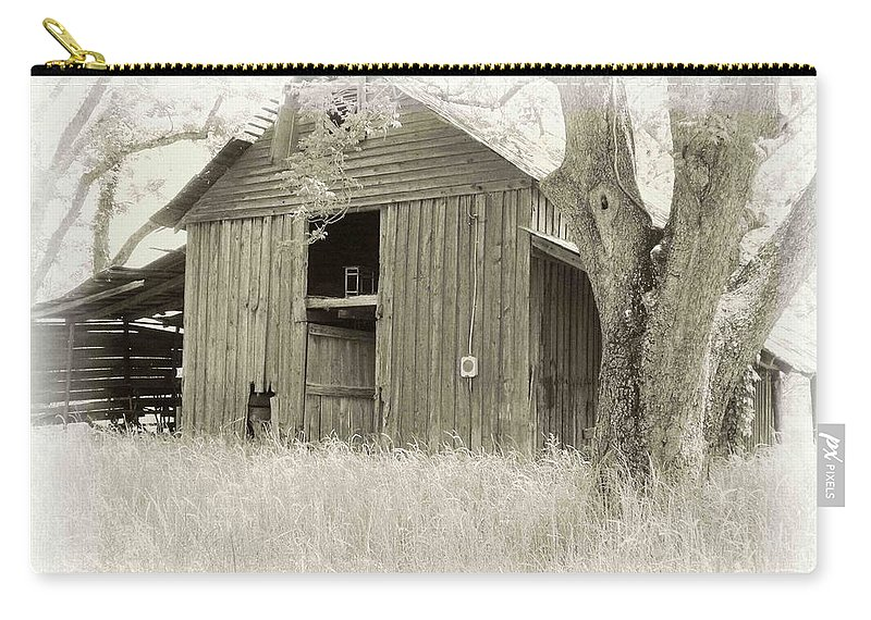 Barn Carry-all Pouch featuring the photograph In The Pecan Orchard by Nelson Strong