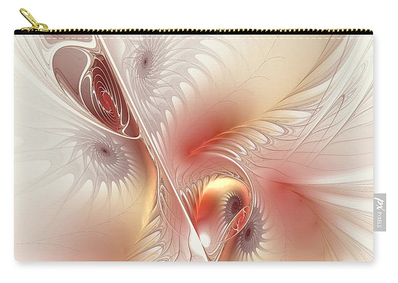 Digital Carry-all Pouch featuring the digital art In The Pink Frac by Deborah Benoit