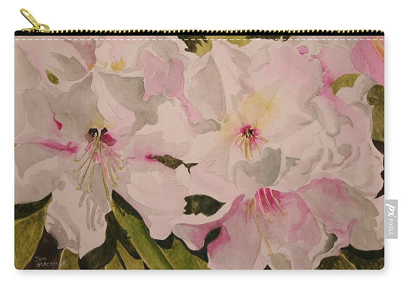 Pink Carry-all Pouch featuring the painting In The Pink by Jean Blackmer