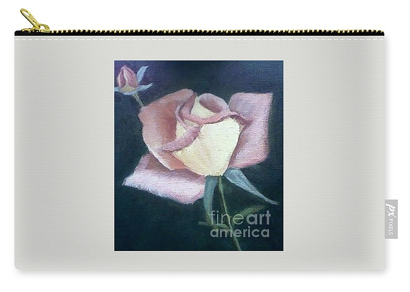 Roses Carry-all Pouch featuring the painting In The Pink by Joanne Dour