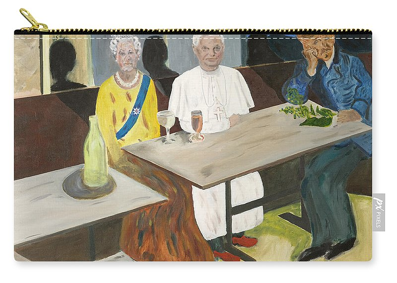 Pub Carry-all Pouch featuring the painting In The Pub by Avi Lehrer