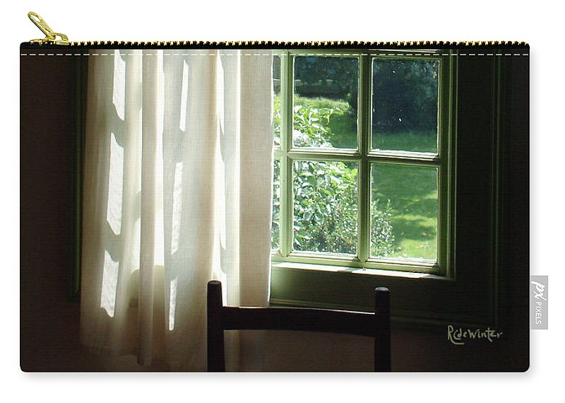 Window Carry-all Pouch featuring the photograph In The Quiet Of The Afternoon by RC DeWinter