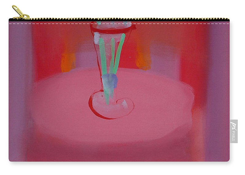 Vase Carry-all Pouch featuring the painting In The Red Room by Charles Stuart